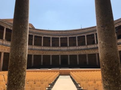 Interior of Charles V palace