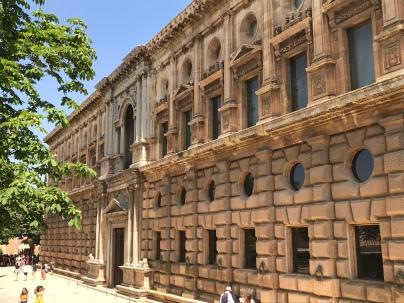Facade of Charles V palace
